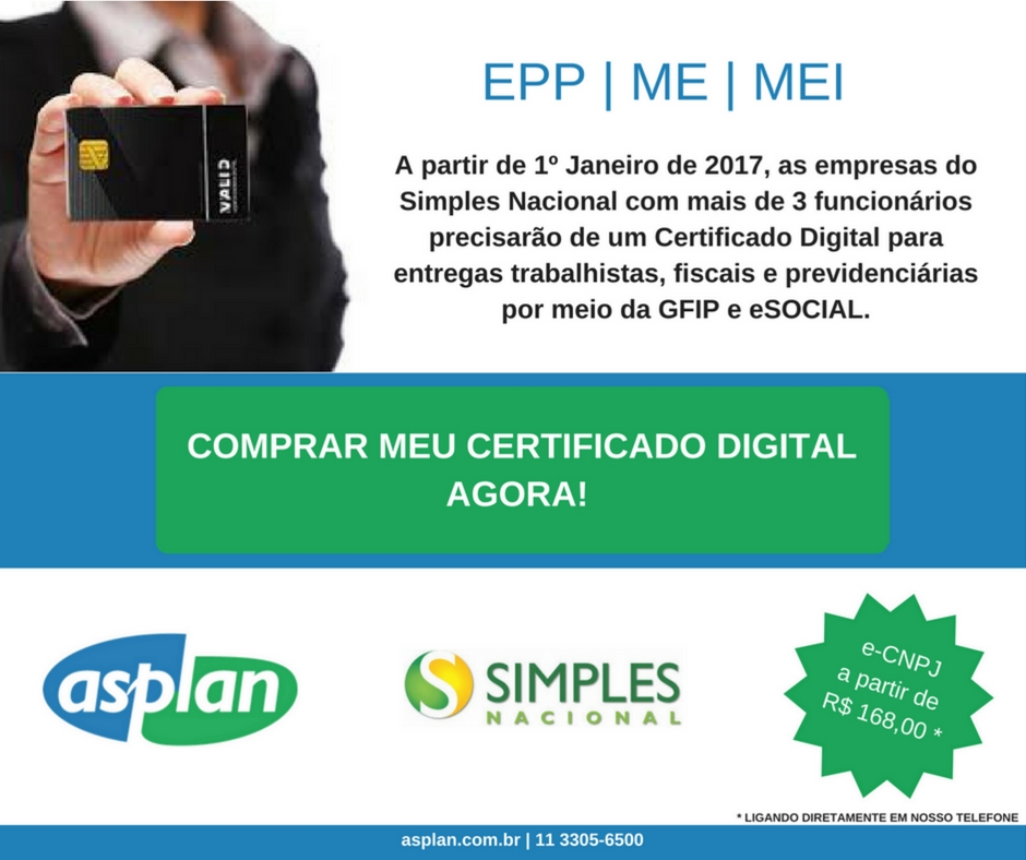 1° Janeiro: Certificado Digital Para Empresas Do Simples Nacional Com Mais De Três Funcionários